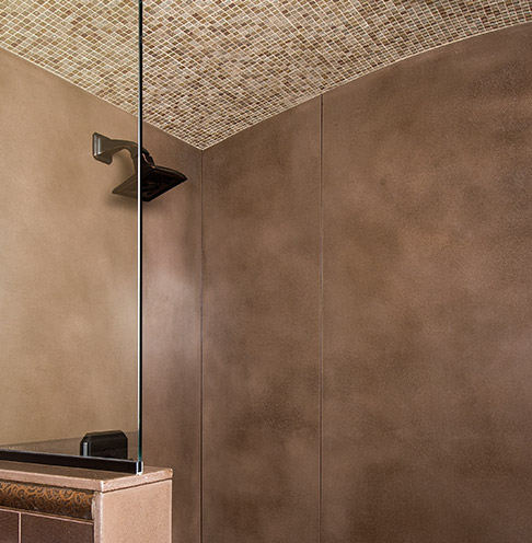 shower tiles made of concrete