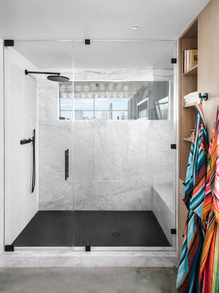 shower made of concrete