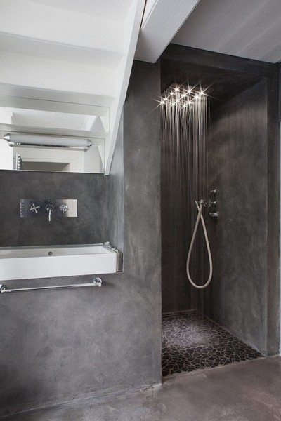 concrete shower design