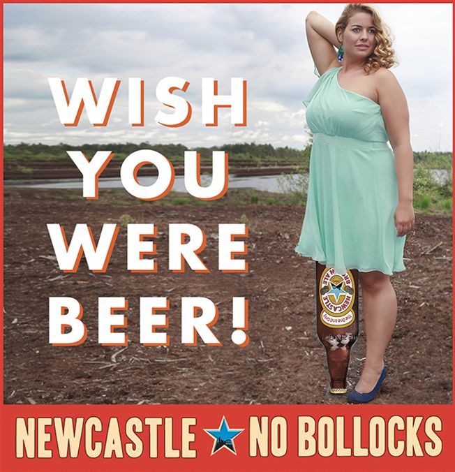 Newcastle Brown Bad Photoshop Ads